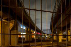 Behind bars (fredrik.gattan) Tags: train tracks yard bridge lights bokeh gate bars lines solna stockholm sweden winter moody