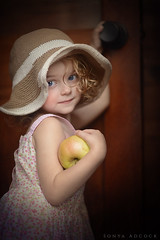 The Apple (Sonya Adcock Photography) Tags: girl child kid photography childphotography light glow warm family painterly portrait poetry poetic story nikon nikond700 nikkor nikkor105mmdc childhood fineart fineartphotography art sonyaadcockphotography window windowlight apple fruit