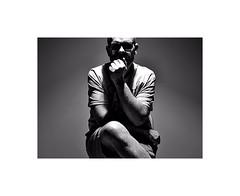 In the lime light ! (CJS*64) Tags: nikon nikkorlens nikkor nikond7000 dslr d7000 35mmlens 35mm18lens blackwhite bw blackandwhite whiteblack whiteandblack mono monochrome sat sit sitting thoughts inthelight cjs64 craigsunter cjs people portrait calm calming