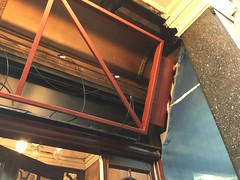 Installation of digital LED display at London Palladium (wearearchers) Tags: ledscreen digitalleddisplay theatreland theatre theatrefrontofhouse londonpalladium metalwork steelwork westend