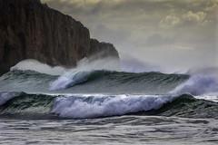 Angry wind (Kari Siren) Tags: wind storm wave ocean sea cliff sagres portugal algarve