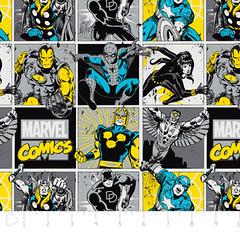"""(Camelot Cottons) Marvel Comic II, Comic Blocks In Sunshine • <a style=""""font-size:0.8em;"""" href=""""http://www.flickr.com/photos/132535894@N06/18145438803/"""" target=""""_blank"""">View on Flickr</a>"""