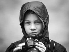 Small Nikon user (Wojtek Piatek) Tags: boy portrait blackandwhite mono blackwhite eyes nikon photographer child portret zeiss135 sonya99
