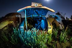 Old School (Aztravelgrl (Forgotten Places Photography)) Tags: california longexposure nightphotography usa lightpainting cars night lowlight fresno junkyard valleyjunkyard