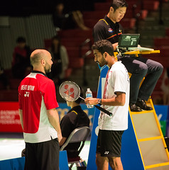 Rajiv Ouseph Consulting with Coach (KW0326) Tags: county new york england college island gold us suffolk community long open grand prix lee malaysia ms brentwood wei chong badminton rajiv qf bwf 2015 ouseph usopen2015yonexusopen
