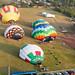 Balões sendo inflados