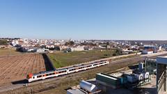 Regional Puertollano-Zafra (Nohab0100) Tags: man train tren railway camello comboio renfe extremadura automotora 592 dmu macosa 5922 cochemotor villafrancadelosbarros 592200