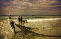 Escena de pesca en Birmania - Burmese fishermen (bit ramone) Tags: sea fish asia fishermen burma myanmar pesca pescadores birmania bitramone pentaxk5