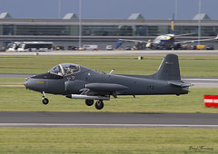 BAC 167 Strikemaster (birrlad) Tags: ireland dublin airplane airport fighter display aircraft aviation military air airplanes jet landing airshow international shannon finals arrival airforce approach runway dub bray 167 bac arriving strikemaster