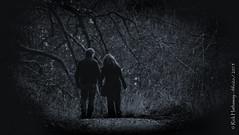 Blissfully unaware (rhfo2o - rick hathaway photography) Tags: canon dark walking mono couple westsussex arundel arminarm swanbournelake canoneos400d rhfo2o