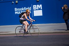 bikecycle girl london 1 (-- Carlosperez --) Tags: life street city inglaterra blue england people urban woman streets color colour london art bike wheel canon photography fly flying photo calle gente transport culture ciudad londres calles transporte londoners bikecycle
