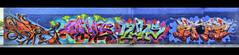 Footscray graffiti (J-C-M) Tags: street urban panorama streetart art wall painting graffiti artwork alley paint grafitti australia melbourne wallart victoria panoramic spray alleyway lane laneway aerosol stitched footscray