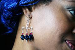 Blue Crystal earrings (raghouseinternational) Tags: earrings braids bluehair knots hairstyles blackwoman raghouseinternational individualbraids braidstyles renaissancemarieaustin