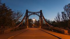 Peißnitz bridge Halle/Saale in the evening (MR-Fotografie) Tags: bridge blue light evening licht nikon perfect x tokina insel clear explore hour brücke saale blaue hallesaale erholungsgebiet stunde d7100 1228mm peisnitz peisnitzbrücke mrfotografie