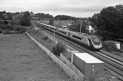 Banbury Lane (DH73.) Tags: west electric speed lens coast high kodak tmax northamptonshire trains virgin 400 lane rodinal kiev f8 1500 banbury helios 390 4a pendolino tmy400 53mm r09
