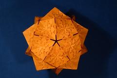 Hydrangea Icosahedron (Michał Kosmulski) Tags: origami modular hydrangea tessellation icosahedron unit shuzofujimoto tantpaper michałkosmulski