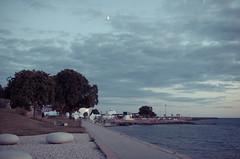 Moonlight (MMortAH) Tags: blue sea summer sky moon seaside nikon midsummer sweden harbour 14 sigma solstice moonlight midsommar visby 30mm d90