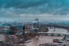 Metropolis London (Daniel Bissill Photography) Tags: london metropolis cityscape city cityviews landscape lighting moody rain cloudy sony sonya7ii sonya7 winter fog bridge capital england perspective exploration explore adventure nomads alwaysroaming thames river architecture composition oxotower zeiss water urban urbanscene