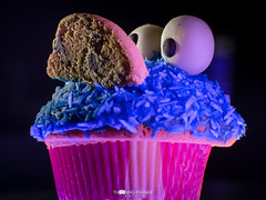 Das Krümelmonster lebt - The Cookie Monster is alive HMM (Thomas Franke Photography) Tags: mm macro mondays birthday cupcake muffin cake sweet monster eyes alive leben essen eat tasty cookie cookiemonster krümelmonster rosa blau augen kecks geburtstag backen