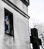 (C-47) Tags: selective religion religious creation canon cemetery pèrelachaisecemetery blackwhite color bleu blue cross