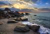 Morning Sun Rays (kijimuna.) Tags: sunrise beach landscape seascape wave sky ocean ray canon eos6d japan okinawa shore 日本 沖縄 海 ビーチ 日の出 サンライズ 空 雲 東村 太平洋 coast