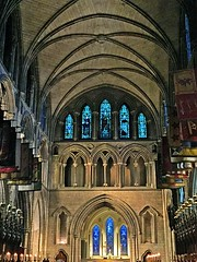 St. Patrick's Nave (AntyDiluvian) Tags: dublin ireland stpatrickscathedral evensong nave neogothic