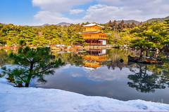 Snow @ Kinkakuji Kyoto , Japan 雪金閣 (Jennifer 真泥佛) Tags: 雪金閣 金閣寺 雪 冬 京都 日本 nikond4s
