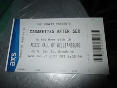 Cigarettes After Sex - 2017 Music Hall of Williamsburg 0645 (Brechtbug) Tags: cigarettes after sex 2017 music hall williamsburg printed out ticket performer libsid read sold january 01252017 nyc brooklyn new york city mr randy miller bass greg gonzalez vocals jacob tomsky drums phillip tubbs keyboard band musicians group stages bands cigarettesaftersex