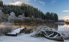 A Frosty Loch Ard with some lovely morning light illuminating the mist on the water (Scott Morrison |) Tags: scotland lochard frosty winter trossachs boat landscape