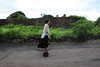The traditional way (Elios.k) Tags: horizontal outdoors people oneperson girl personaltransporter pt segway minipro ninebot tourist modern technology rental traditional village community road alone empty balancing stone wall green grass rural travel travelling august 2016 vacation canon 5dmkii camera photography colour color jeju jejudo island seongeupfolkvillage korea southkorea asia
