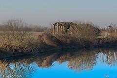 abbandonato (conteluigi66) Tags: fiume acqua riflessi luigiconte alberi verde erba campagna