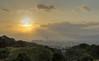 Kyoto Sunset (dtra) Tags: cloud green hdr japan kiyomizudera kyoto kyototower mountain photomatix raysoflight sky sun sunset temple tree