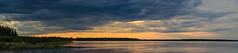 Mackenzie River Nights (Isaac Hilman (@lightofisaac)) Tags: pano panoramic 100mp wide stitched color sky clouds weather mackenzie nt canada mackenzieriver nikon nature wilderness wild rugged beautiful serene calm