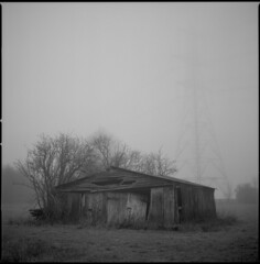 the shed at the end of the road (steve-jack) Tags: hasselblad 501cm 80mm cb ilford delta 100 film medium format 120 6x6