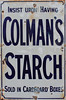 colmans (zaphad1) Tags: old metal sign advert texture poster colmans starch