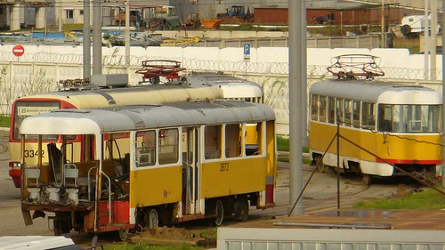Moscow tram Tatra T3SU 3873