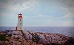 Peggy's Cove Lighthouse (mp13 nhnc) Tags: novascotia canada ocean atlanticocean sea sky clouds water lighthouse rocks