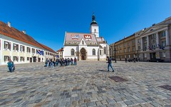 Zagreb (20) - St. Mark's Square (Vlado Ferenčić) Tags: stmarkssquare zagreb croatia hrvatska architecture fisheye sigma1528fisheye nikond600 citiestowns cityscape cities castleschurches churches