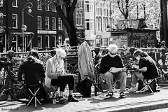 Painting Club in De Jordaan Part 1 (Noonski) Tags: life street city bw white black amsterdam club painting photography nikon lovely zwart wit jordaan lovelycity