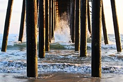 Under the Pier (shanecurtisphotography) Tags: ocean california sea vacation beach water spectacular pier amazing sand under fast wave spray follow fave oceanside splash shutterspeed oceansidepier fastshutterspeed woodpier underpier californiapier