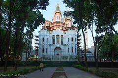 Church under construction (neal.walker) Tags: travel building kyiv easterneurope