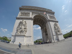 The massive Arc de Triomphe!