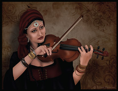 Gypsy Violin (*ELynn) Tags: woman illustration adobe violin illustrator gypsy