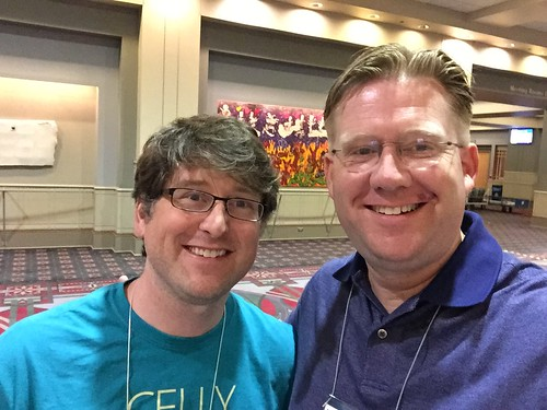 Wesley Fryer & Michael Matera at ISTE 20 by Wesley Fryer, on Flickr