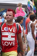 Love and a Pink Tutu (WryMuffin) Tags: pinktutu lovetshirt yodelpride 2015capitolhillseattlepridefest