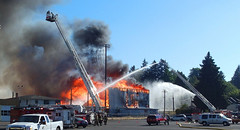 Civic8c (Wolfram Burner) Tags: oregon fire community baseball stadium eugene burn civic arson gonzo eugeneoregon conflagration civicstadium