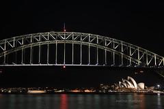 Sydney at night (@trustmeiamatraveler) Tags: show travel bridge light night point amazing shot harbour sydney australia wanderlust milsons cremone