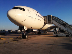 Air France Arrival, Charles De Gaulle Airport, Paris 19/04/2015 (Gary S. Crutchley) Tags: park travel paris france west beautiful indonesia de java miniature asia air south charles mini olympus east southern jakarta boeing indah gaulle 777 far taman airfrance epl1