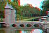 Duivenpoort en Kruisvijver Kasteel de Haar 3D (wim hoppenbrouwers) Tags: kasteeldehaar utrecht 3d kasteel dehaar utrecht3d duivenpoort kruisvijver haarzuilens brug canal