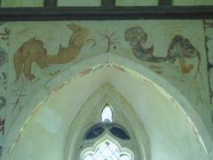 Cockatrice & Basilisk, Hailes (Aidan McRae Thomson) Tags: church mural medieval gloucestershire wallpainting hailes